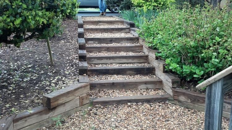 beautiful construire un escalier de jardin en bois ideas - design ... - Construire Un Escalier De Jardin En Bois