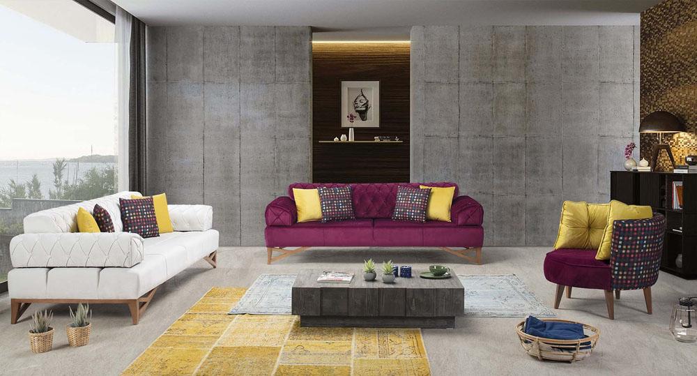 d corer son salon avec des couleurs vivantes 1000 d cos. Black Bedroom Furniture Sets. Home Design Ideas